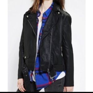 Urban Outfitters Vegan Leather Moto Jacket